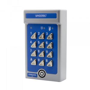 Vanderbilt V42 Keypad Access Device - Silver - Key Code - 2 User(s) - 24 V DC - Surface Mount