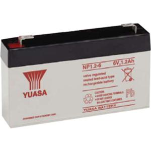 Yuasa NP1.2-6 Battery - Sealed Lead Acid (SLA) - For Multipurpose - Battery Rechargeable - 6 V DC - 1200 mAh