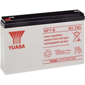 Yuasa NP7-6 Battery - Sealed Lead Acid (SLA) - For Multipurpose - Battery Rechargeable - 6 V DC - 7000 mAh