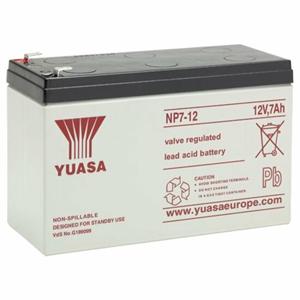 Yuasa NP7-12L Battery - Sealed Lead Acid (SLA) - For Multipurpose - Battery Rechargeable - 12 V DC - 7000 mAh